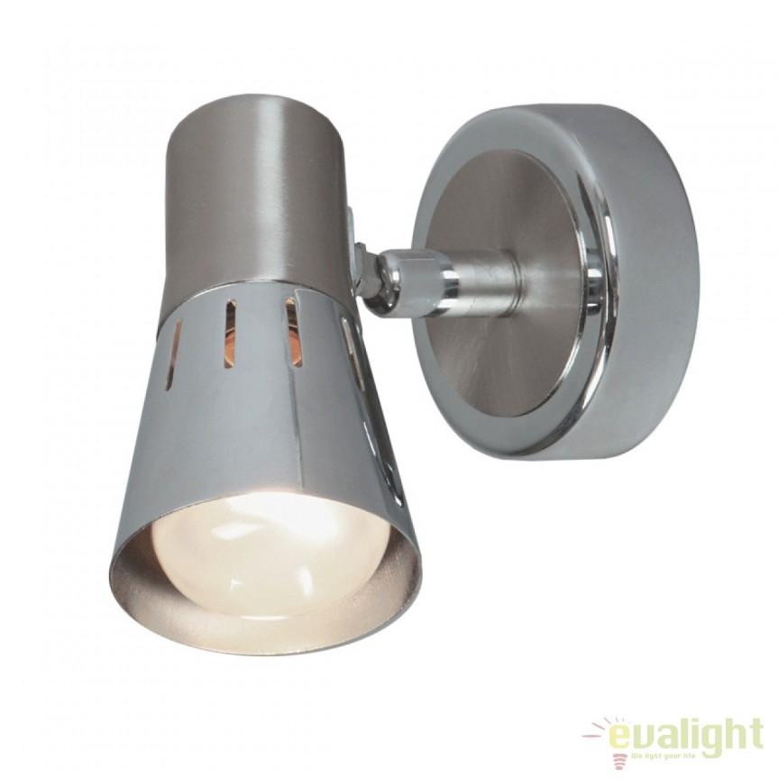 Aplica de perete moderna cu spot directionabil Melbes 505020101 MW, Spoturi - iluminat - cu 1 spot, Corpuri de iluminat, lustre, aplice, veioze, lampadare, plafoniere. Mobilier si decoratiuni, oglinzi, scaune, fotolii. Oferte speciale iluminat interior si exterior. Livram in toata tara.  a