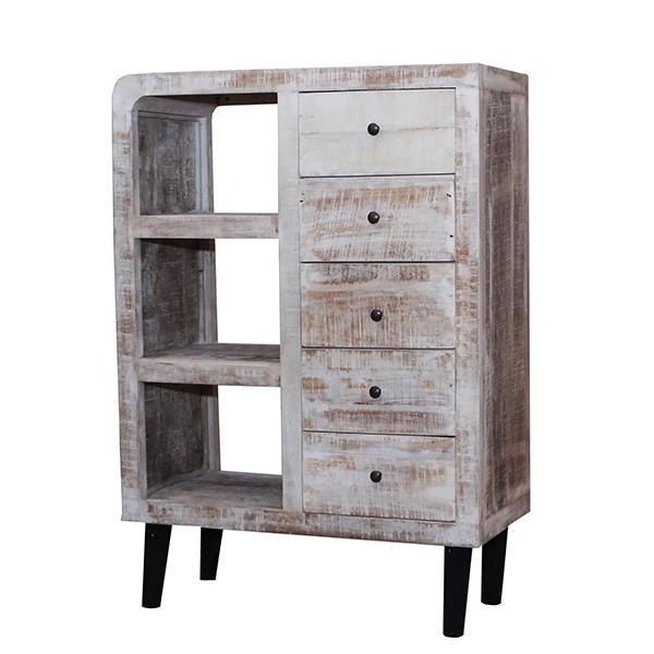 Consola cu 5 sertare design rustic din lemn de waru, Cross 52285 SAP, Console - Birouri, Corpuri de iluminat, lustre, aplice, veioze, lampadare, plafoniere. Mobilier si decoratiuni, oglinzi, scaune, fotolii. Oferte speciale iluminat interior si exterior. Livram in toata tara.  a