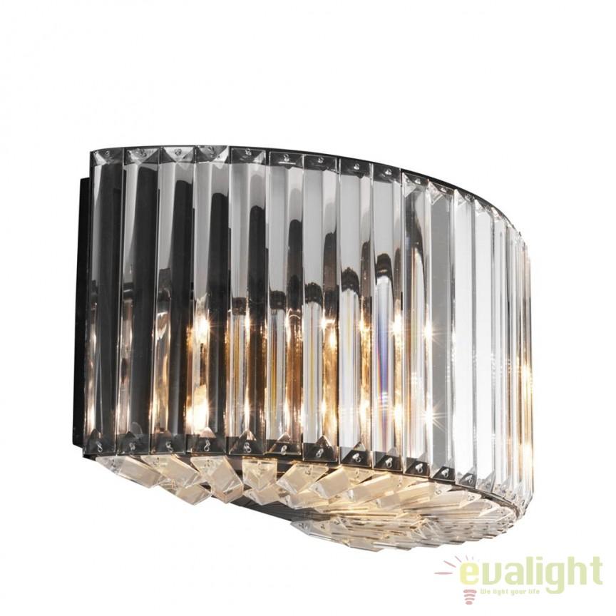 Aplica design LUX Infinity gunmetal 109668 HZ, Aplice de perete moderne, Corpuri de iluminat, lustre, aplice, veioze, lampadare, plafoniere. Mobilier si decoratiuni, oglinzi, scaune, fotolii. Oferte speciale iluminat interior si exterior. Livram in toata tara.  a