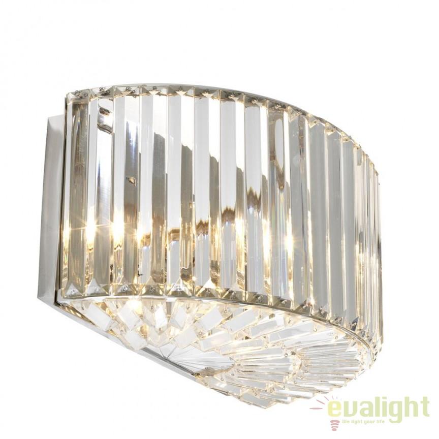 Aplica design LUX Infinity nickel 111001 HZ, Aplice de perete moderne, Corpuri de iluminat, lustre, aplice, veioze, lampadare, plafoniere. Mobilier si decoratiuni, oglinzi, scaune, fotolii. Oferte speciale iluminat interior si exterior. Livram in toata tara.  a