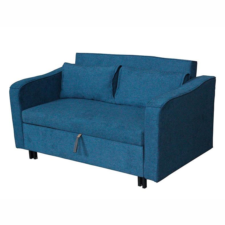 Canapea extensibila cu structura din metal Zinca albastru 52432 SAP, Canapele - Coltare, Corpuri de iluminat, lustre, aplice, veioze, lampadare, plafoniere. Mobilier si decoratiuni, oglinzi, scaune, fotolii. Oferte speciale iluminat interior si exterior. Livram in toata tara.  a