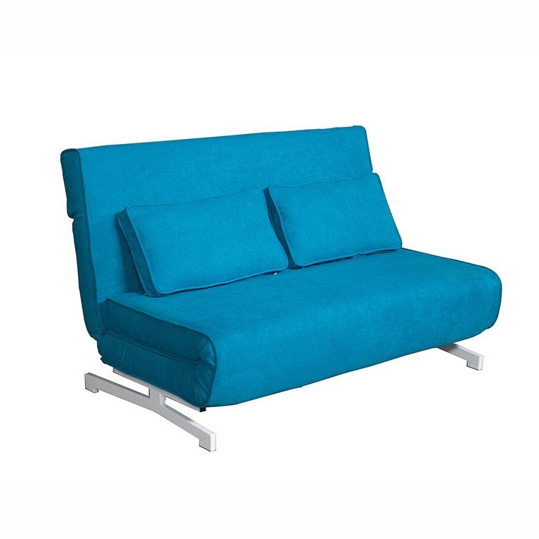 Canapea extensibila cu structura din metal albastru 52437 SAP, Canapele - Coltare, Corpuri de iluminat, lustre, aplice, veioze, lampadare, plafoniere. Mobilier si decoratiuni, oglinzi, scaune, fotolii. Oferte speciale iluminat interior si exterior. Livram in toata tara.  a