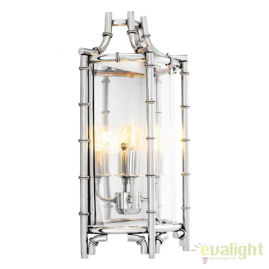 Aplica din otel inoxidabil design LUX Vasco argintiu 111251 HZ, Aplice de perete moderne, Corpuri de iluminat, lustre, aplice, veioze, lampadare, plafoniere. Mobilier si decoratiuni, oglinzi, scaune, fotolii. Oferte speciale iluminat interior si exterior. Livram in toata tara.  a