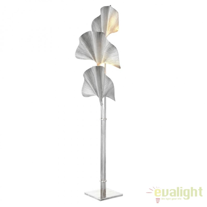 Lampadar din alama design LUX Las Palmas argintiu 111274 HZ, Lampadare, Corpuri de iluminat, lustre, aplice, veioze, lampadare, plafoniere. Mobilier si decoratiuni, oglinzi, scaune, fotolii. Oferte speciale iluminat interior si exterior. Livram in toata tara.  a