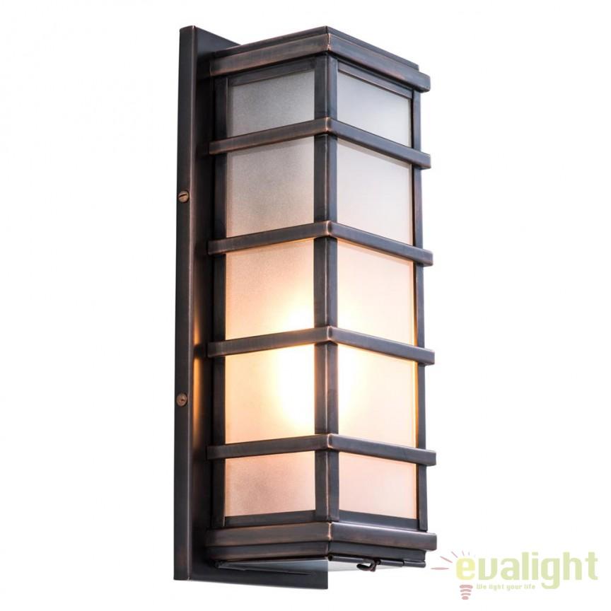 Aplica de perete design LUX Welby bronz 110473 HZ, Aplice de perete moderne, Corpuri de iluminat, lustre, aplice, veioze, lampadare, plafoniere. Mobilier si decoratiuni, oglinzi, scaune, fotolii. Oferte speciale iluminat interior si exterior. Livram in toata tara.  a