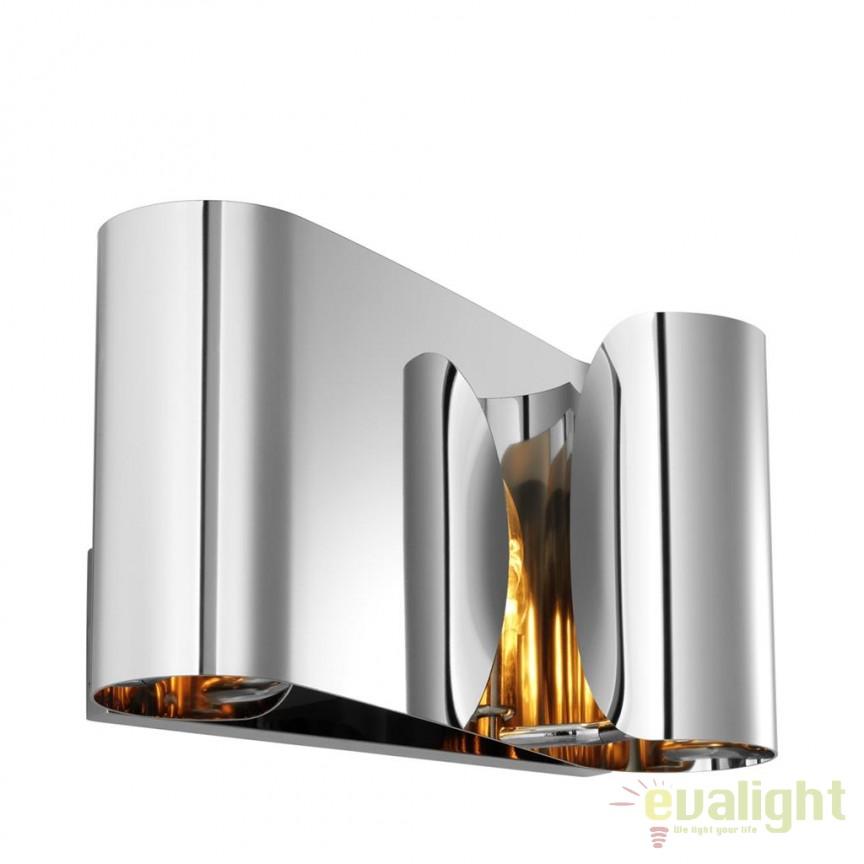 Aplica de perete design LUX Crawley nickel 111047 HZ, Aplice de perete moderne, Corpuri de iluminat, lustre, aplice, veioze, lampadare, plafoniere. Mobilier si decoratiuni, oglinzi, scaune, fotolii. Oferte speciale iluminat interior si exterior. Livram in toata tara.  a