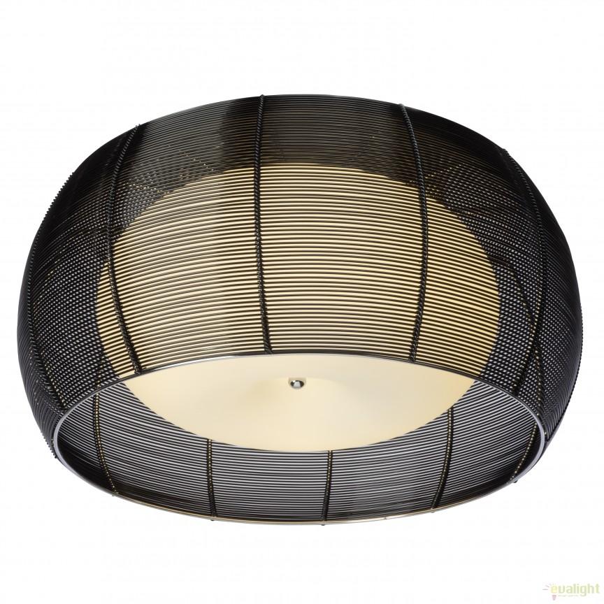 Plafoniera moderna RELAX, diam.40cm negru 61180/76 BL, Plafoniere moderne, Corpuri de iluminat, lustre, aplice, veioze, lampadare, plafoniere. Mobilier si decoratiuni, oglinzi, scaune, fotolii. Oferte speciale iluminat interior si exterior. Livram in toata tara.  a