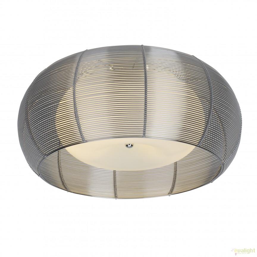 Plafoniera moderna RELAX, diam.50cm crom 61180/15 BL, Plafoniere moderne, Corpuri de iluminat, lustre, aplice, veioze, lampadare, plafoniere. Mobilier si decoratiuni, oglinzi, scaune, fotolii. Oferte speciale iluminat interior si exterior. Livram in toata tara.  a