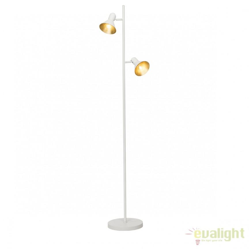Lampadar design modern AZTEKAS alb/ auriu 24956/85 BL, Lampadare, Corpuri de iluminat, lustre, aplice, veioze, lampadare, plafoniere. Mobilier si decoratiuni, oglinzi, scaune, fotolii. Oferte speciale iluminat interior si exterior. Livram in toata tara.  a