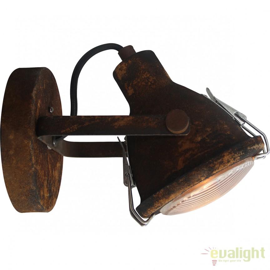 Aplica design industrial GU10 LED Bentli negru ruginit 26810/60 BL, Aplice de perete LED, Corpuri de iluminat, lustre, aplice, veioze, lampadare, plafoniere. Mobilier si decoratiuni, oglinzi, scaune, fotolii. Oferte speciale iluminat interior si exterior. Livram in toata tara.  a