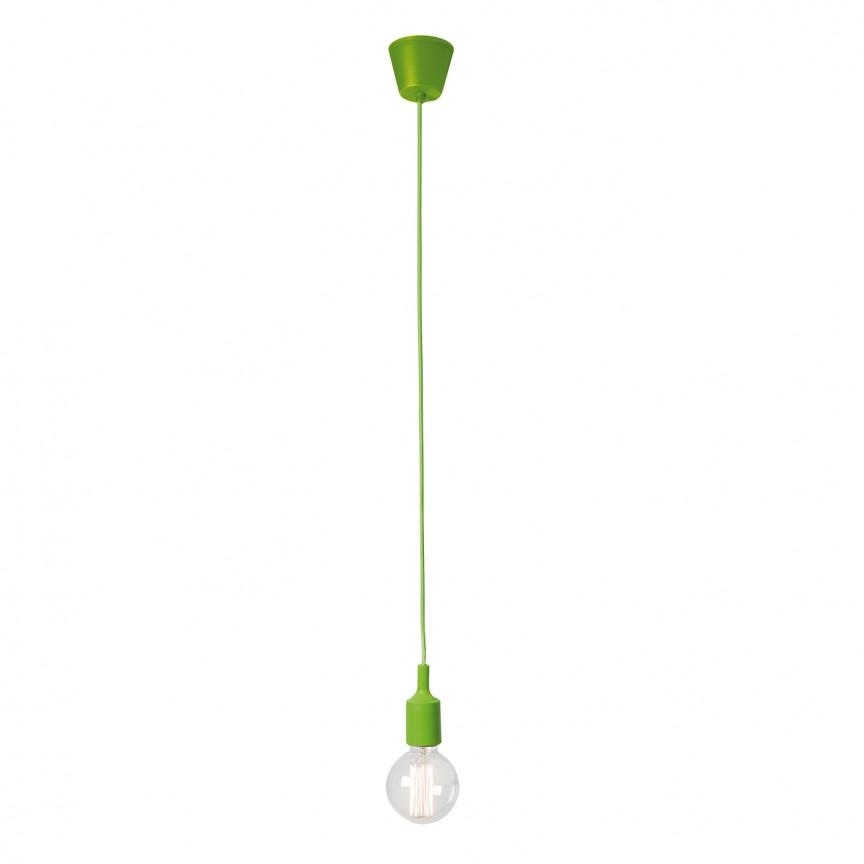 Pendul minimalist Silicona verde 189016 SU, Pendule, Lustre suspendate, Corpuri de iluminat, lustre, aplice, veioze, lampadare, plafoniere. Mobilier si decoratiuni, oglinzi, scaune, fotolii. Oferte speciale iluminat interior si exterior. Livram in toata tara.  a