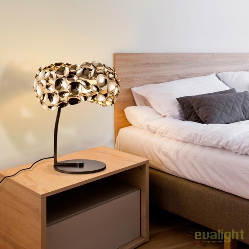 Veioza LED / Lampa de masa eleganta Narisa gold SV-266544, Veioze de Birou moderne, Corpuri de iluminat, lustre, aplice, veioze, lampadare, plafoniere. Mobilier si decoratiuni, oglinzi, scaune, fotolii. Oferte speciale iluminat interior si exterior. Livram in toata tara.  a