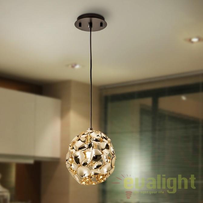 Pendul design elegant diam.18cm Narisa gold SV-266035, Pendule, Lustre suspendate, Corpuri de iluminat, lustre, aplice, veioze, lampadare, plafoniere. Mobilier si decoratiuni, oglinzi, scaune, fotolii. Oferte speciale iluminat interior si exterior. Livram in toata tara.  a