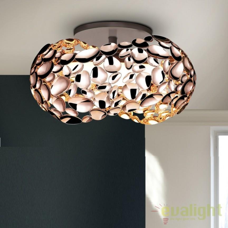 Plafoniera LED design modern diam.46cm Narisa gold SV-266822, Plafoniere moderne, Corpuri de iluminat, lustre, aplice, veioze, lampadare, plafoniere. Mobilier si decoratiuni, oglinzi, scaune, fotolii. Oferte speciale iluminat interior si exterior. Livram in toata tara.  a