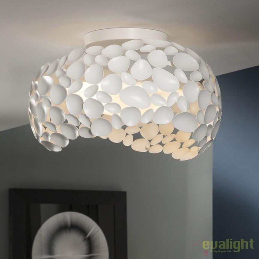 Plafoniera LED design modern diam.46cm Narisa crom SV-266847, Plafoniere moderne, Corpuri de iluminat, lustre, aplice, veioze, lampadare, plafoniere. Mobilier si decoratiuni, oglinzi, scaune, fotolii. Oferte speciale iluminat interior si exterior. Livram in toata tara.  a