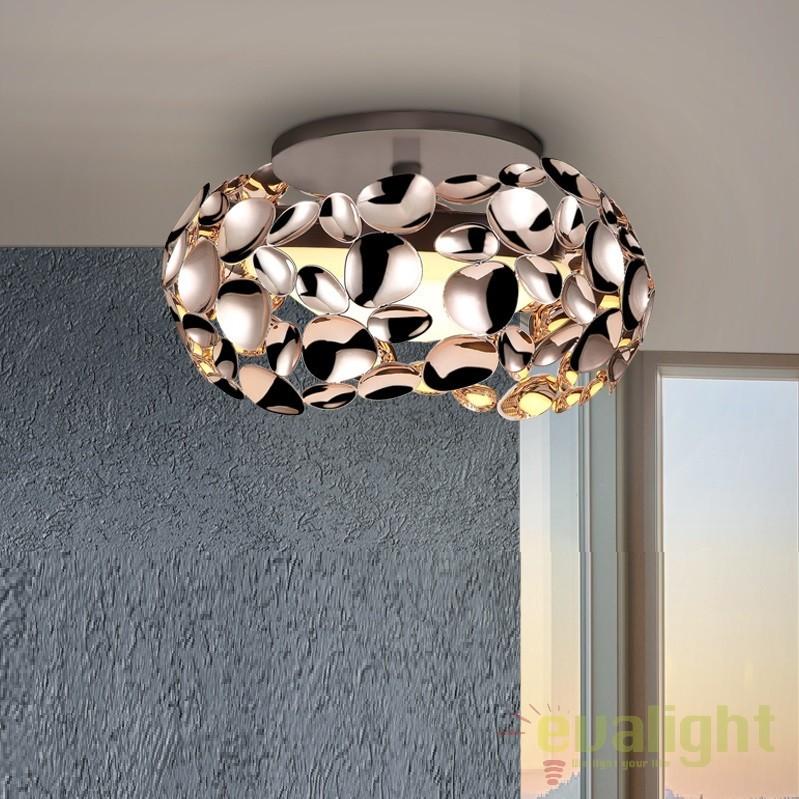 Plafoniera LED design modern diam.32cm Narisa gold SV-266973, Plafoniere moderne, Corpuri de iluminat, lustre, aplice, veioze, lampadare, plafoniere. Mobilier si decoratiuni, oglinzi, scaune, fotolii. Oferte speciale iluminat interior si exterior. Livram in toata tara.  a