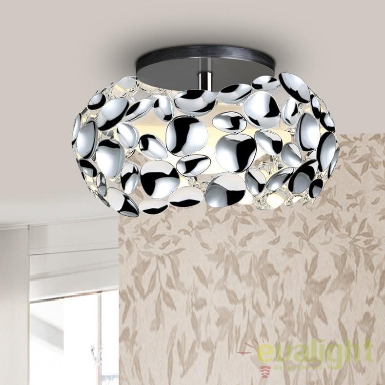Plafoniera LED design modern diam.32cm Narisa crom SV-266946, Plafoniere moderne, Corpuri de iluminat, lustre, aplice, veioze, lampadare, plafoniere. Mobilier si decoratiuni, oglinzi, scaune, fotolii. Oferte speciale iluminat interior si exterior. Livram in toata tara.  a