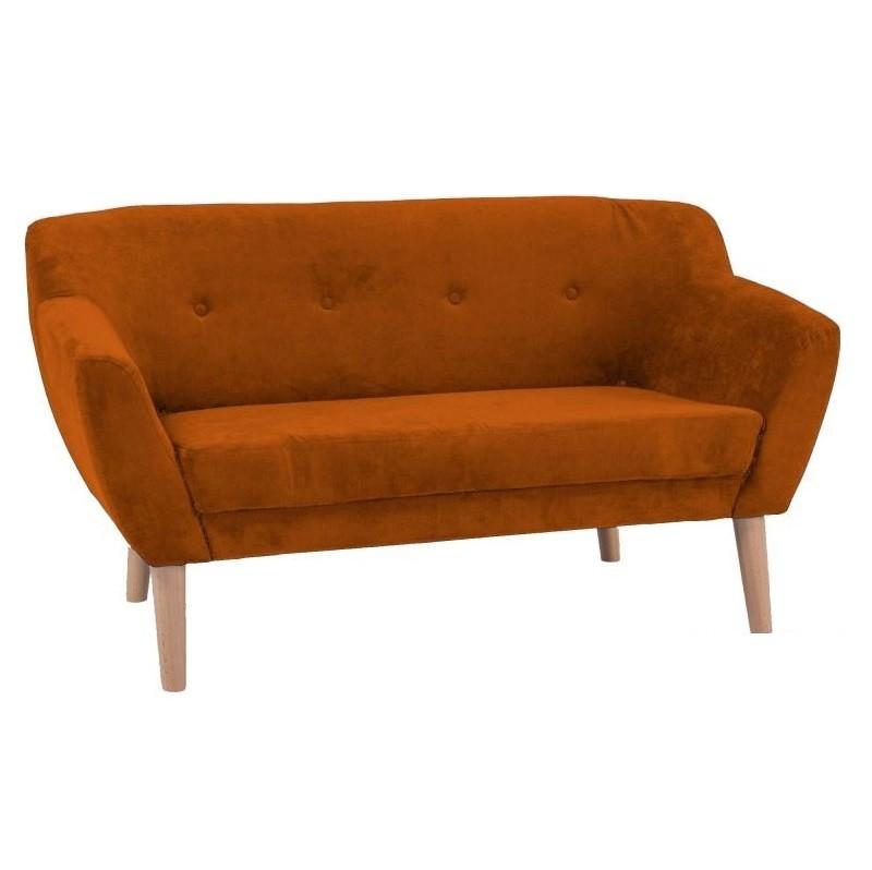 Canapea confortabila design scandinav BERGEN 2 portocaliu BERGEN21610 SM, PROMOTII, Corpuri de iluminat, lustre, aplice, veioze, lampadare, plafoniere. Mobilier si decoratiuni, oglinzi, scaune, fotolii. Oferte speciale iluminat interior si exterior. Livram in toata tara.  a
