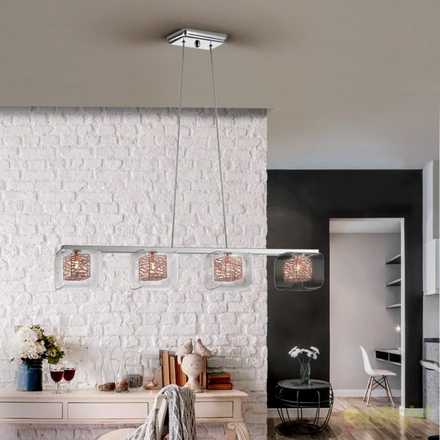Lustra suspendata design modern Lios SV-867012, Pendule, Lustre suspendate, Corpuri de iluminat, lustre, aplice, veioze, lampadare, plafoniere. Mobilier si decoratiuni, oglinzi, scaune, fotolii. Oferte speciale iluminat interior si exterior. Livram in toata tara.  a