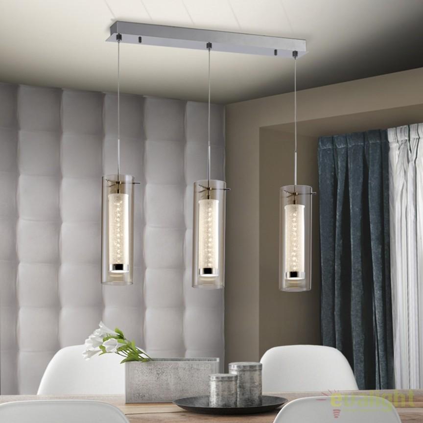 Lustra LED cu 3 pendule design modern Zila SV-860899, Lustre LED, Pendule LED, Corpuri de iluminat, lustre, aplice, veioze, lampadare, plafoniere. Mobilier si decoratiuni, oglinzi, scaune, fotolii. Oferte speciale iluminat interior si exterior. Livram in toata tara.  a
