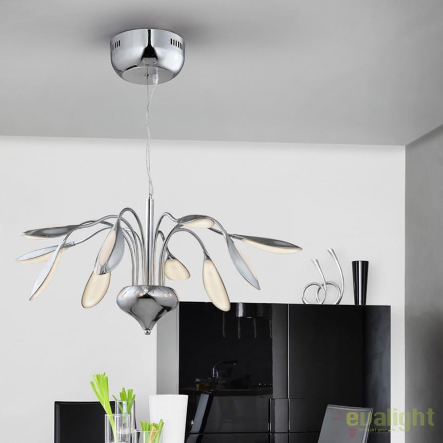 Lustra LED design modern diam.70cm Lucila SV-324372, Lustre LED, Pendule LED, Corpuri de iluminat, lustre, aplice, veioze, lampadare, plafoniere. Mobilier si decoratiuni, oglinzi, scaune, fotolii. Oferte speciale iluminat interior si exterior. Livram in toata tara.  a