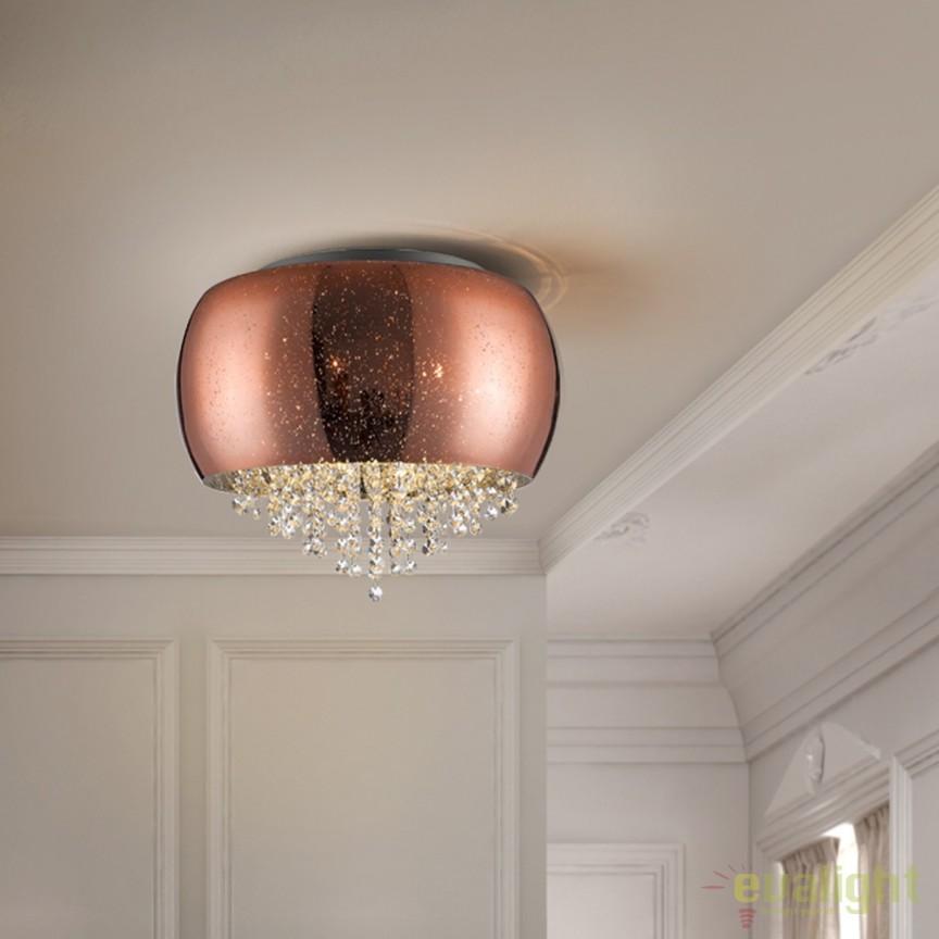 Plafoniera design elegant diam.40cm CAELUM cupru SV-618271, Plafoniere moderne, Corpuri de iluminat, lustre, aplice, veioze, lampadare, plafoniere. Mobilier si decoratiuni, oglinzi, scaune, fotolii. Oferte speciale iluminat interior si exterior. Livram in toata tara.  a