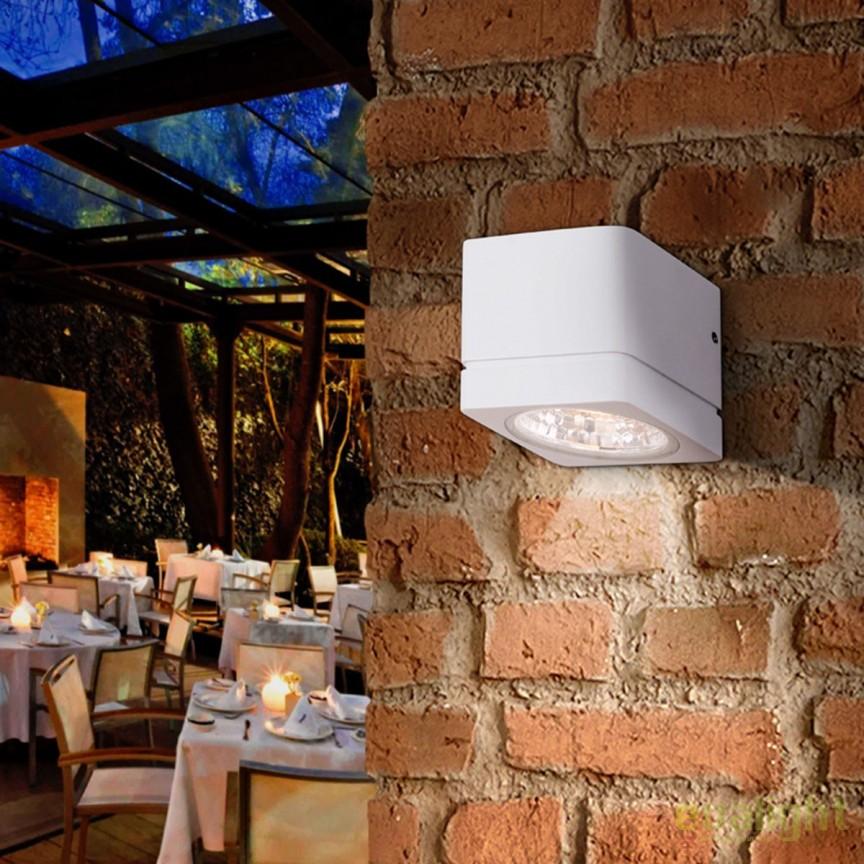 Aplica de perete LED cu proiector iluminat exterior IP54 Gregal SV-429508, ILUMINAT EXTERIOR, Corpuri de iluminat, lustre, aplice, veioze, lampadare, plafoniere. Mobilier si decoratiuni, oglinzi, scaune, fotolii. Oferte speciale iluminat interior si exterior. Livram in toata tara.  a