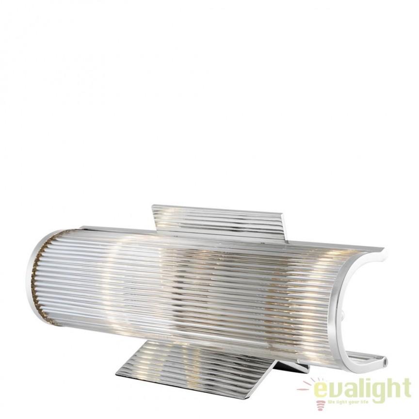 Lampa LUX pentru birou, Glorious nickel 111335 HZ, Veioze de Birou moderne, Corpuri de iluminat, lustre, aplice, veioze, lampadare, plafoniere. Mobilier si decoratiuni, oglinzi, scaune, fotolii. Oferte speciale iluminat interior si exterior. Livram in toata tara.  a
