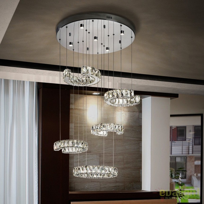Lustra LED design elegant cu 5 pendule Cala SV-679526, Lustre LED, Pendule LED, Corpuri de iluminat, lustre, aplice, veioze, lampadare, plafoniere. Mobilier si decoratiuni, oglinzi, scaune, fotolii. Oferte speciale iluminat interior si exterior. Livram in toata tara.  a