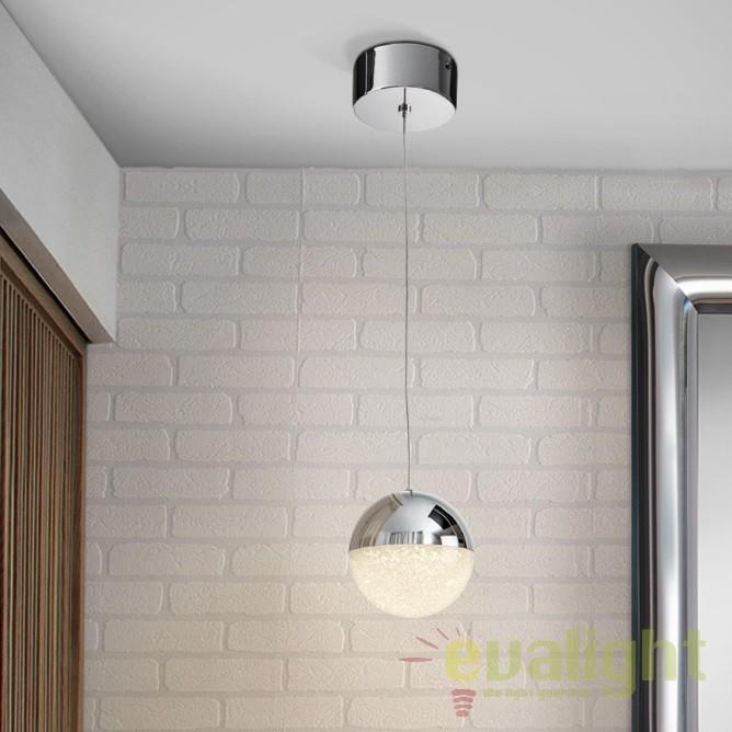 Pendul LED design modern diam.12cm Sphere SV-793301, Lustre LED, Pendule LED, Corpuri de iluminat, lustre, aplice, veioze, lampadare, plafoniere. Mobilier si decoratiuni, oglinzi, scaune, fotolii. Oferte speciale iluminat interior si exterior. Livram in toata tara.  a