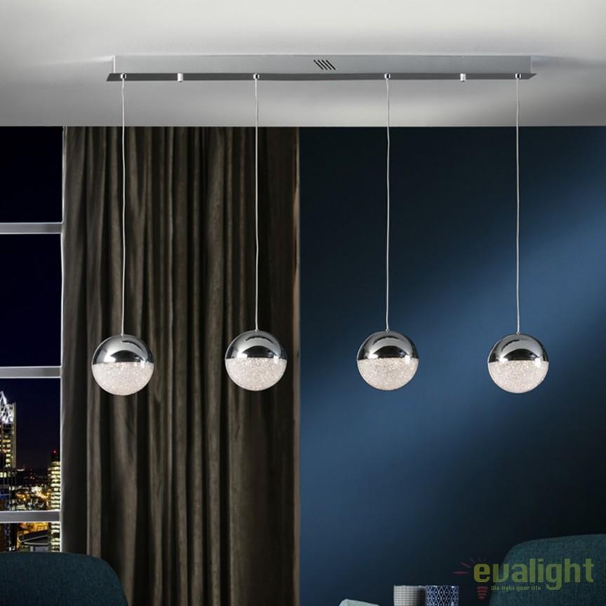 Lustra LED design modern cu 4 pendule Sphere SV-793635, Lustre LED, Pendule LED, Corpuri de iluminat, lustre, aplice, veioze, lampadare, plafoniere. Mobilier si decoratiuni, oglinzi, scaune, fotolii. Oferte speciale iluminat interior si exterior. Livram in toata tara.  a
