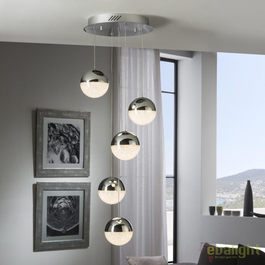 Lustra LED design modern cu 5 pendule Sphere SV-793523, Lustre LED, Pendule LED, Corpuri de iluminat, lustre, aplice, veioze, lampadare, plafoniere. Mobilier si decoratiuni, oglinzi, scaune, fotolii. Oferte speciale iluminat interior si exterior. Livram in toata tara.  a