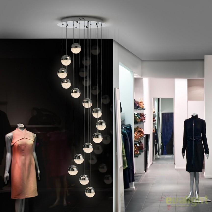 Lustra LED design modern cu 14 pendule Sphere SV-793746, Lustre LED, Pendule LED, Corpuri de iluminat, lustre, aplice, veioze, lampadare, plafoniere. Mobilier si decoratiuni, oglinzi, scaune, fotolii. Oferte speciale iluminat interior si exterior. Livram in toata tara.  a
