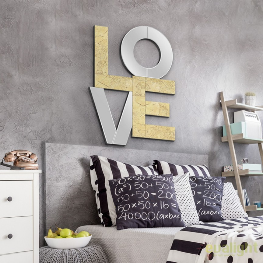 Oglinda decorativa design modern Love SV-490633, Corpuri de iluminat, lustre, aplice, veioze, lampadare, plafoniere. Mobilier si decoratiuni, oglinzi, scaune, fotolii. Oferte speciale iluminat interior si exterior. Livram in toata tara.