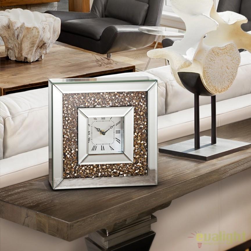 Ceas de masa decorativ Kora SV-765509, Ceasuri de perete decorative living⭐ modele moderne, mari✅ vintage din lemn pentru decoruri de lux, deosebite.❤️Promotii ceasuri❗ Intra si vezi poze ➽ www.evalight.ro. ➽ sursa ta de inspiratie online❗ Alege ceasuri elegante originale premium stil actual Top 2020❗ Tipuri de ceas pentu decor perete bucatarie, birou, dormitor, stil industrial si minimalist, 3D, de camera digitale (electronice) analogice si mecanice cu baterii, rustic cu aspect vechi antique si rama antichizata Art Deco, rotunde, patrate, cifre arabe si romane, clasice cu pendula, realizate manual handmade, pendul si mecanism quartz foarte silentios (fara zgomot), cu ace lungi, agatate tip tablou, decorate cu cristale, metalic, oglinda, sticla, auriu stralucitor, argintiu cromat, cupru stralucitor, decoratiuni de perete pt amenajarea casei, intra ➽vezi oferte si reduceri cu vanzare rapida din stoc, ieftine si de calitate la cel mai bun pret. a