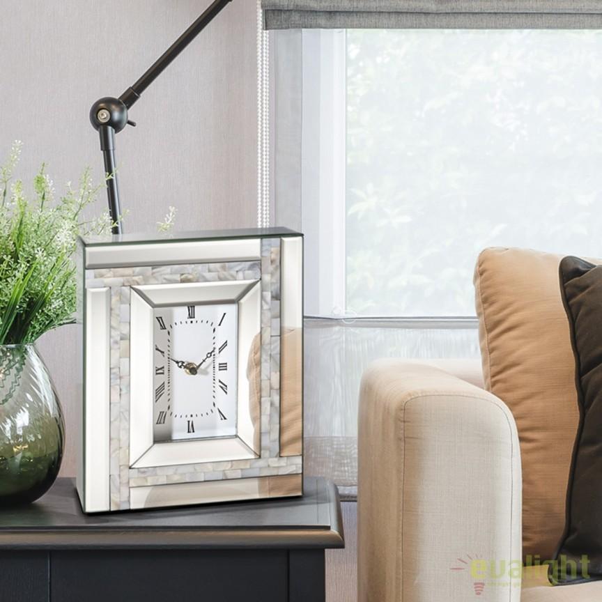Ceas de masa decorativ Nacar II SV-392856, Ceasuri de perete decorative living⭐ modele moderne, mari✅ vintage din lemn pentru decoruri de lux, deosebite.❤️Promotii ceasuri❗ Intra si vezi poze ➽ www.evalight.ro. ➽ sursa ta de inspiratie online❗ Alege ceasuri elegante originale premium stil actual Top 2020❗ Tipuri de ceas pentu decor perete bucatarie, birou, dormitor, stil industrial si minimalist, 3D, de camera digitale (electronice) analogice si mecanice cu baterii, rustic cu aspect vechi antique si rama antichizata Art Deco, rotunde, patrate, cifre arabe si romane, clasice cu pendula, realizate manual handmade, pendul si mecanism quartz foarte silentios (fara zgomot), cu ace lungi, agatate tip tablou, decorate cu cristale, metalic, oglinda, sticla, auriu stralucitor, argintiu cromat, cupru stralucitor, decoratiuni de perete pt amenajarea casei, intra ➽vezi oferte si reduceri cu vanzare rapida din stoc, ieftine si de calitate la cel mai bun pret. a