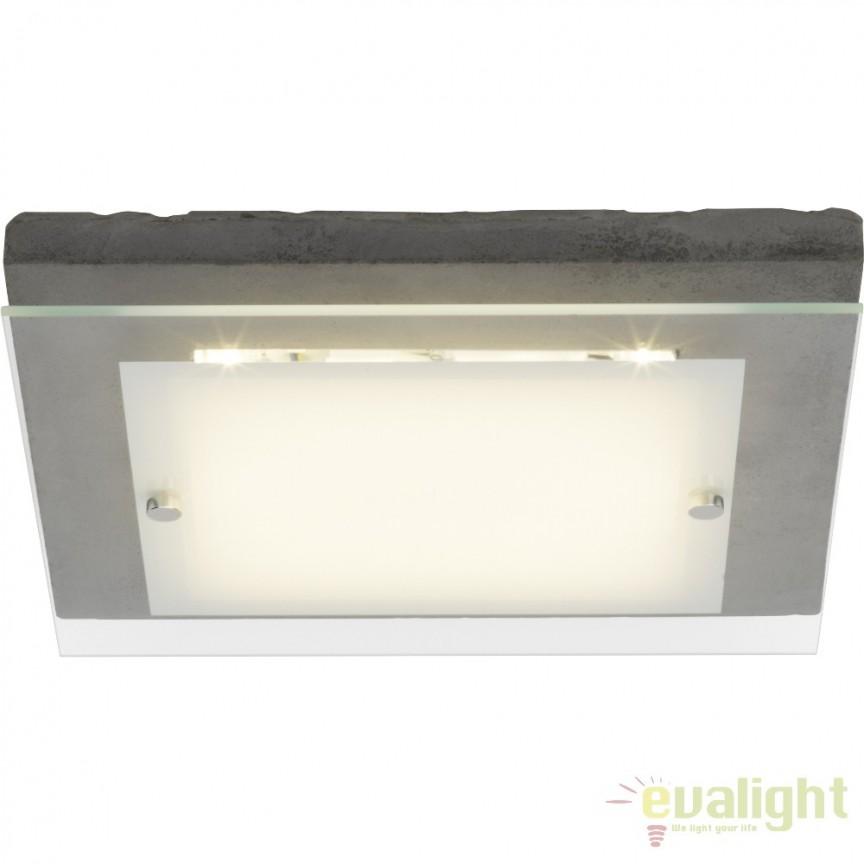 Plafoniera LED Hardwood 29x29cm, ciment G94477/70 BL, ILUMINAT INTERIOR LED , Corpuri de iluminat, lustre, aplice, veioze, lampadare, plafoniere. Mobilier si decoratiuni, oglinzi, scaune, fotolii. Oferte speciale iluminat interior si exterior. Livram in toata tara.  a