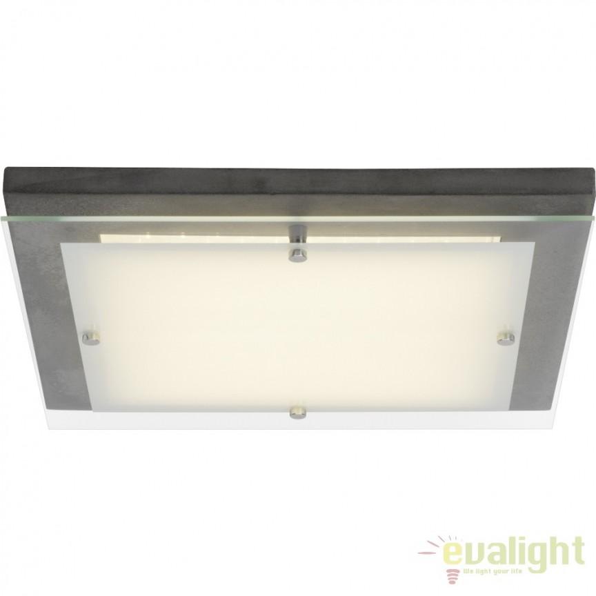 Plafoniera LED Hardwood 40x40cm, ciment G94478/70 BL, ILUMINAT INTERIOR LED , Corpuri de iluminat, lustre, aplice, veioze, lampadare, plafoniere. Mobilier si decoratiuni, oglinzi, scaune, fotolii. Oferte speciale iluminat interior si exterior. Livram in toata tara.  a