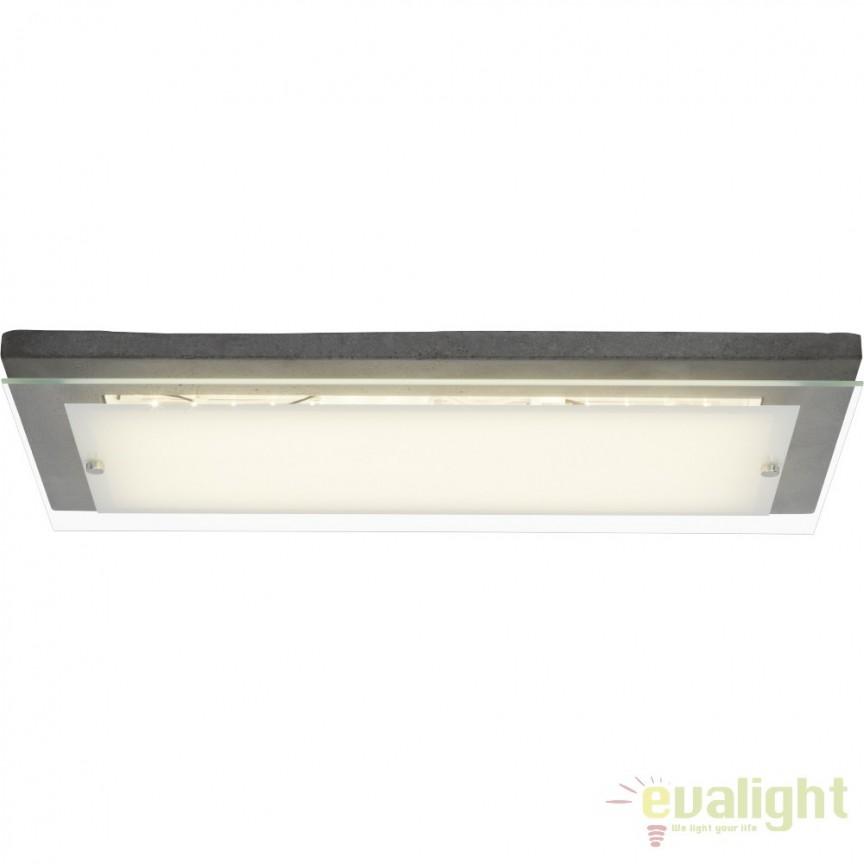 Plafoniera LED Hardwood 57x29,3cm, ciment G94479/70 BL, ILUMINAT INTERIOR LED , Corpuri de iluminat, lustre, aplice, veioze, lampadare, plafoniere. Mobilier si decoratiuni, oglinzi, scaune, fotolii. Oferte speciale iluminat interior si exterior. Livram in toata tara.  a