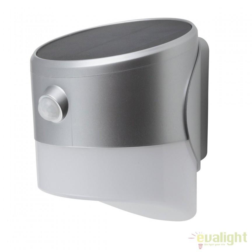 Aplica LED solara cu senzor miscare IP65 ALEXANDRIA 37359 HT, ILUMINAT EXTERIOR, Corpuri de iluminat, lustre, aplice, veioze, lampadare, plafoniere. Mobilier si decoratiuni, oglinzi, scaune, fotolii. Oferte speciale iluminat interior si exterior. Livram in toata tara.  a