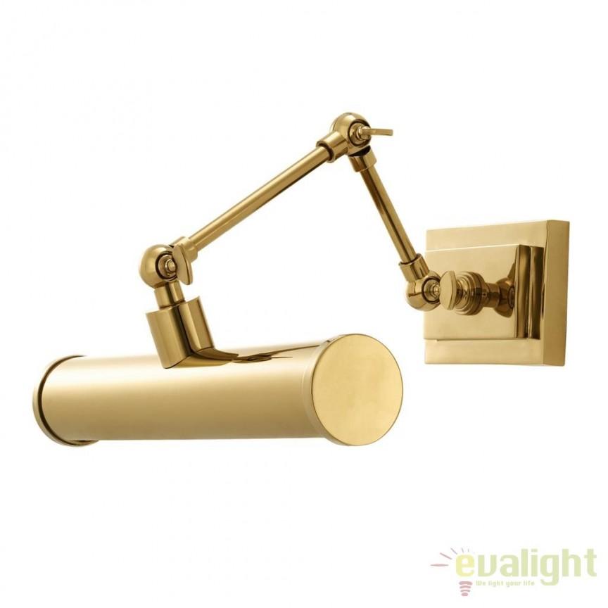 Aplica design LUX pentru oglinda sau tablou Pacific finisaj auriu 111623 HZ, Aplice pentru baie, oglinda, tablou, Corpuri de iluminat, lustre, aplice, veioze, lampadare, plafoniere. Mobilier si decoratiuni, oglinzi, scaune, fotolii. Oferte speciale iluminat interior si exterior. Livram in toata tara.  a