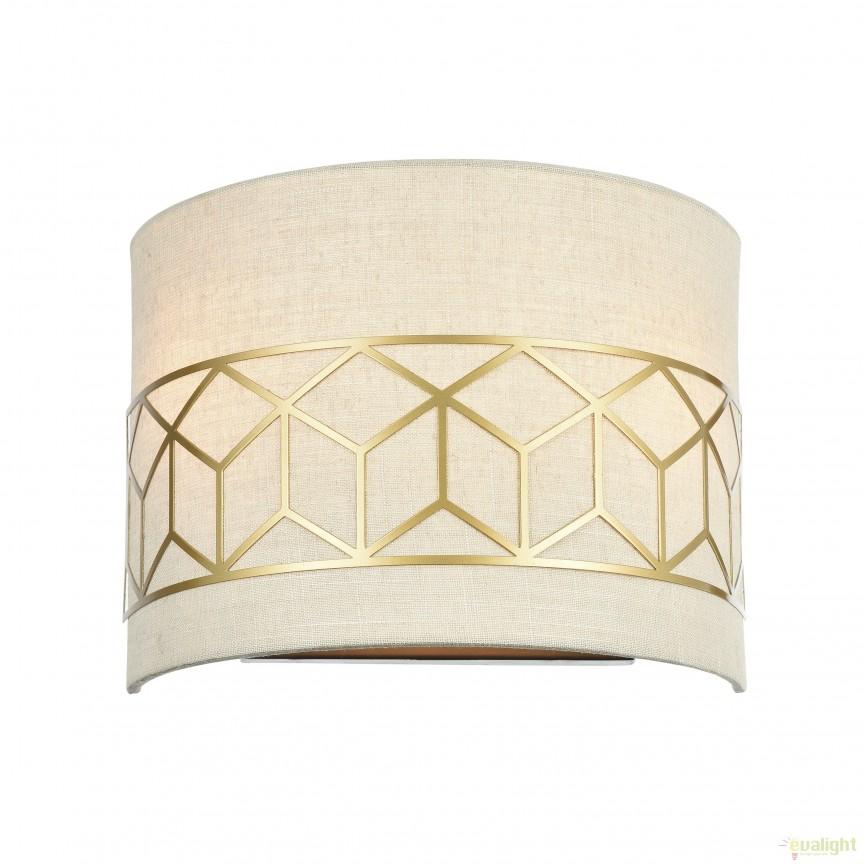 Aplica de perete clasica Messina II MYH223-WL-02-G, Aplice de perete clasice, Corpuri de iluminat, lustre, aplice, veioze, lampadare, plafoniere. Mobilier si decoratiuni, oglinzi, scaune, fotolii. Oferte speciale iluminat interior si exterior. Livram in toata tara.  a