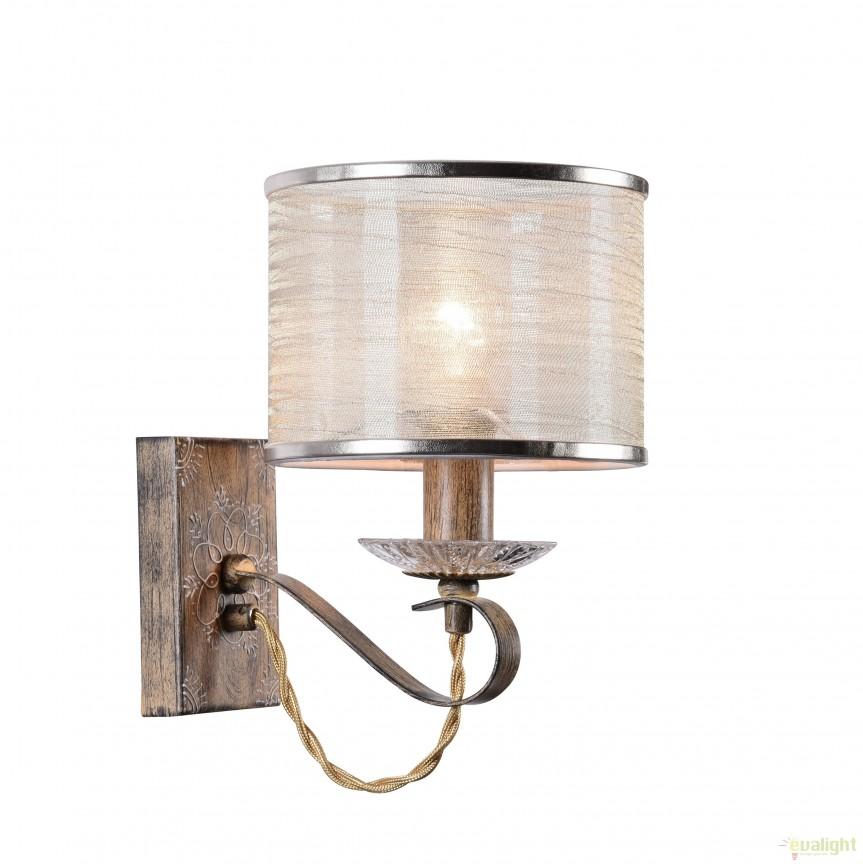 Aplica perete stil clasic Cable MYH357-WL-01-BG, Aplice de perete clasice, Corpuri de iluminat, lustre, aplice, veioze, lampadare, plafoniere. Mobilier si decoratiuni, oglinzi, scaune, fotolii. Oferte speciale iluminat interior si exterior. Livram in toata tara.  a