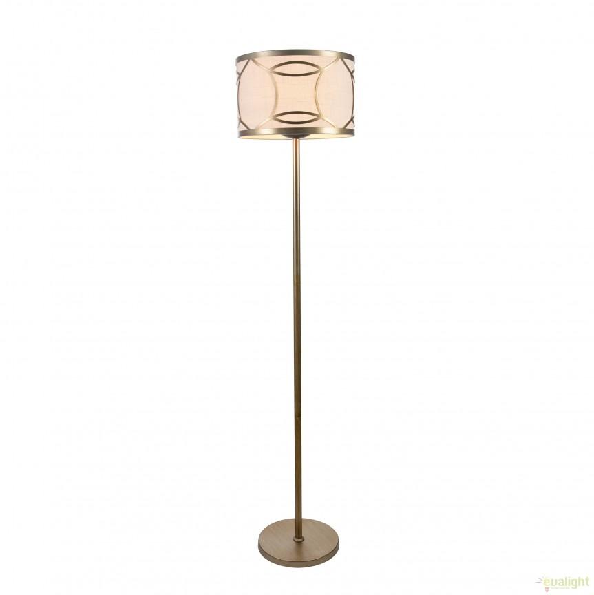 Lampadar / Lampa de podea design clasic Fibi MYH310-FL-01-G, Lampadare clasice, Corpuri de iluminat, lustre, aplice, veioze, lampadare, plafoniere. Mobilier si decoratiuni, oglinzi, scaune, fotolii. Oferte speciale iluminat interior si exterior. Livram in toata tara.  a
