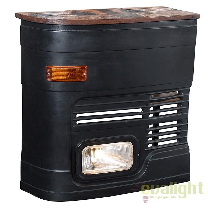 Bar cu iluminat LKW 1/2 Front stanga negru A-37574 VC, Mobilier divers, Corpuri de iluminat, lustre, aplice, veioze, lampadare, plafoniere. Mobilier si decoratiuni, oglinzi, scaune, fotolii. Oferte speciale iluminat interior si exterior. Livram in toata tara.  a