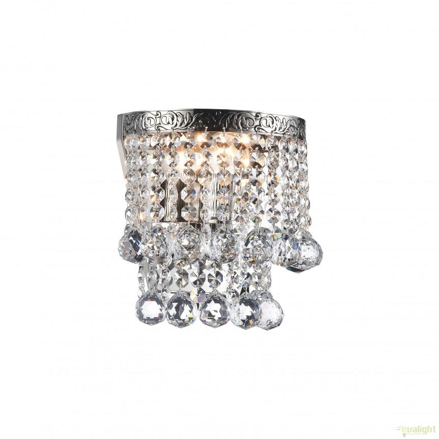 Aplica de perete cristal design elegant Gala nickel MYDIA783-WL-01-N, Aplice de perete clasice, Corpuri de iluminat, lustre, aplice, veioze, lampadare, plafoniere. Mobilier si decoratiuni, oglinzi, scaune, fotolii. Oferte speciale iluminat interior si exterior. Livram in toata tara.  a