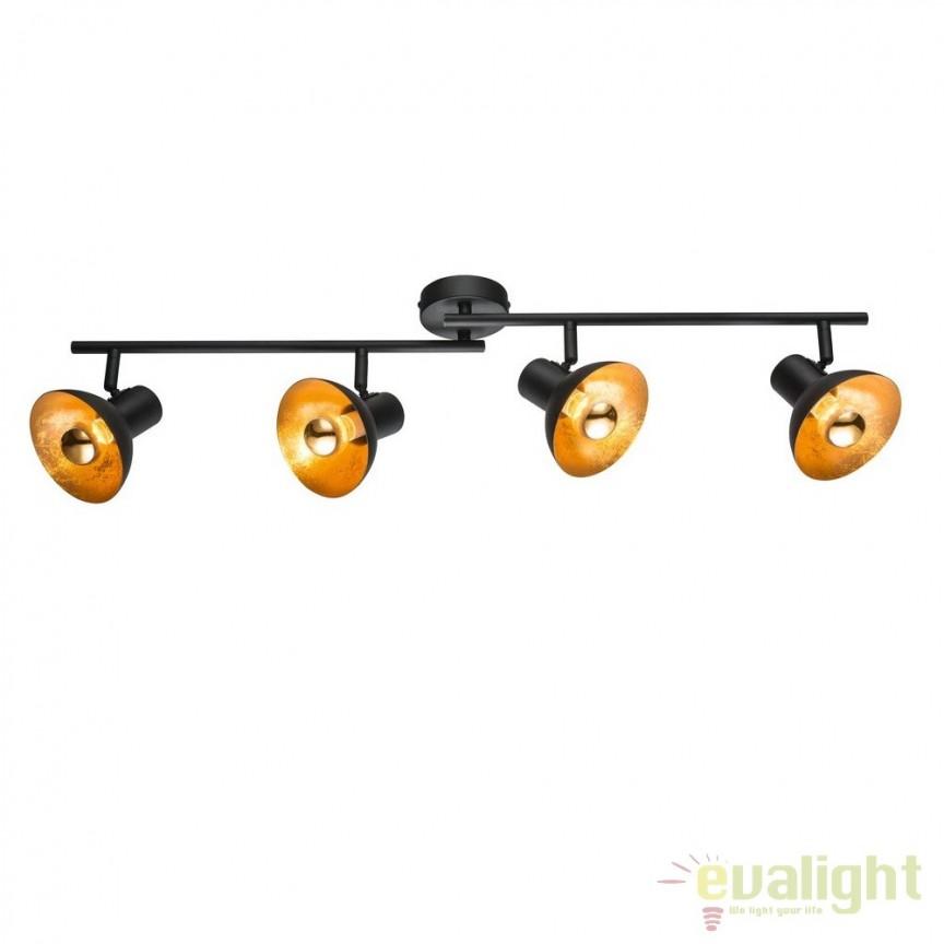 Aplica / Plafoniera LED cu 4 spoturi ROSARIO 27030 HT, Spoturi - iluminat - cu 4 spoturi, Corpuri de iluminat, lustre, aplice, veioze, lampadare, plafoniere. Mobilier si decoratiuni, oglinzi, scaune, fotolii. Oferte speciale iluminat interior si exterior. Livram in toata tara.  a
