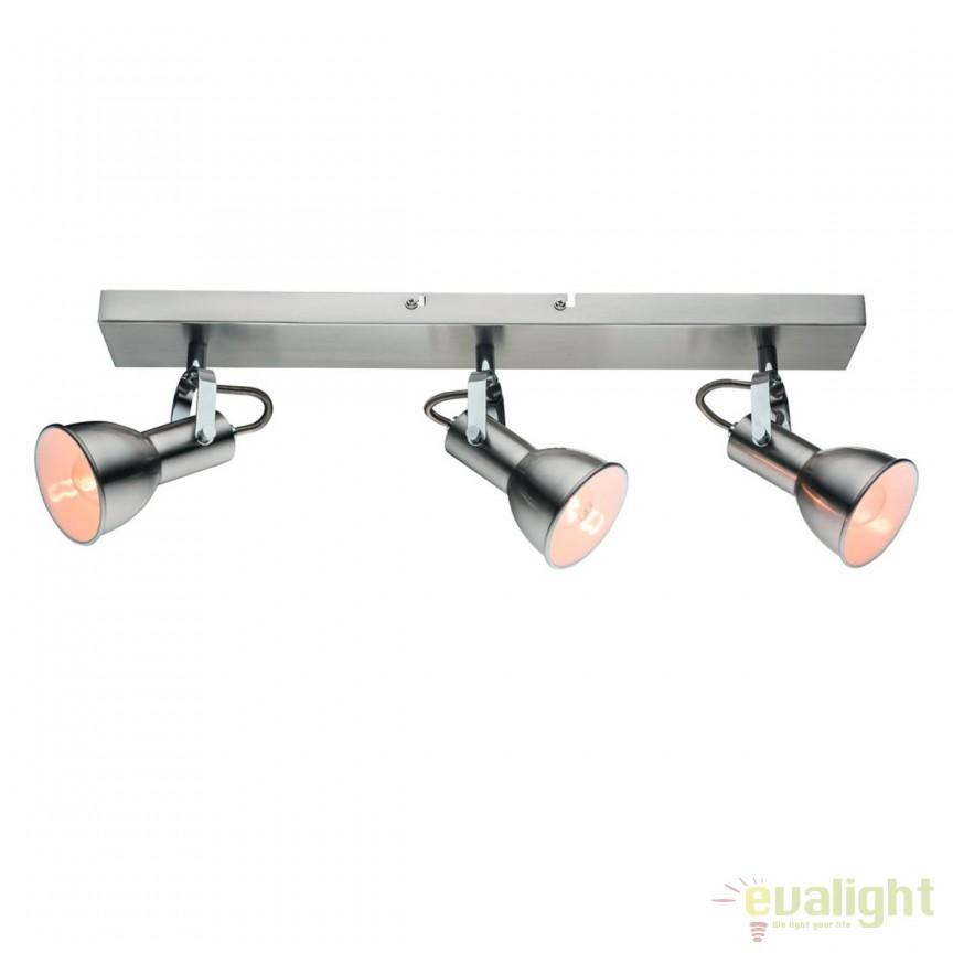 Plafoniera cu 3 spoturi directionabile FARGO 27043 HT, Spoturi - iluminat - cu 3 spoturi, Corpuri de iluminat, lustre, aplice, veioze, lampadare, plafoniere. Mobilier si decoratiuni, oglinzi, scaune, fotolii. Oferte speciale iluminat interior si exterior. Livram in toata tara.  a