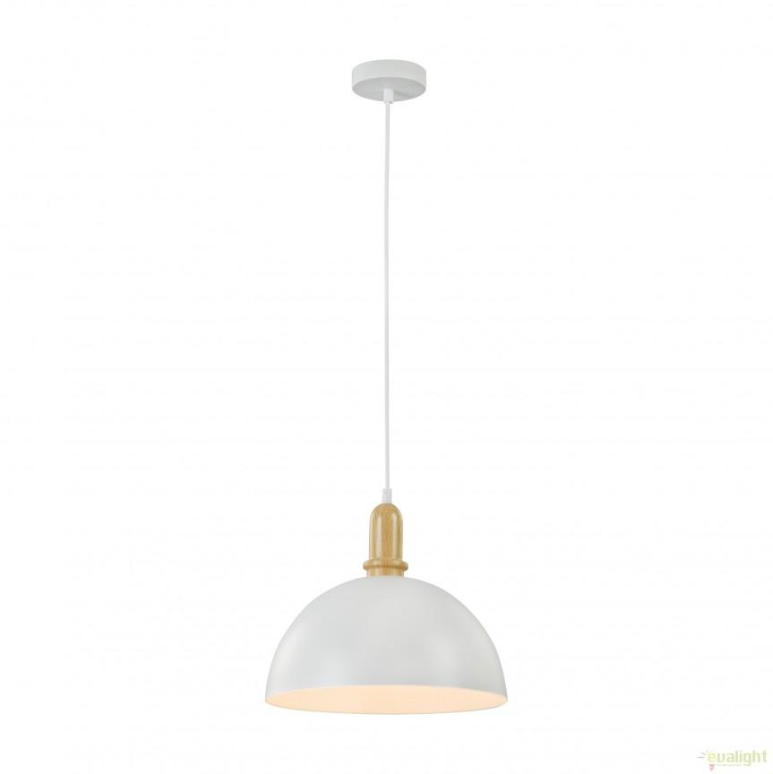 Pendul design modern diam.30,5cm Dayton MYT453-PL-01-W, PROMOTII,  a