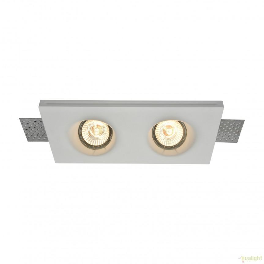 Spot incastrabil DL002 Gyps MYDL002-1-02-W, Spoturi incastrate, aplicate - tavan / perete, Corpuri de iluminat, lustre, aplice, veioze, lampadare, plafoniere. Mobilier si decoratiuni, oglinzi, scaune, fotolii. Oferte speciale iluminat interior si exterior. Livram in toata tara.  a